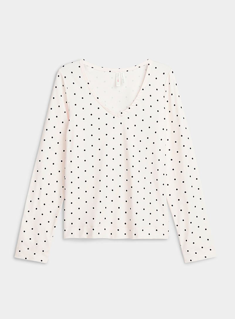 Miiyu x Twik Patterned Ecru Recycled polyester classic pattern T-shirt for women