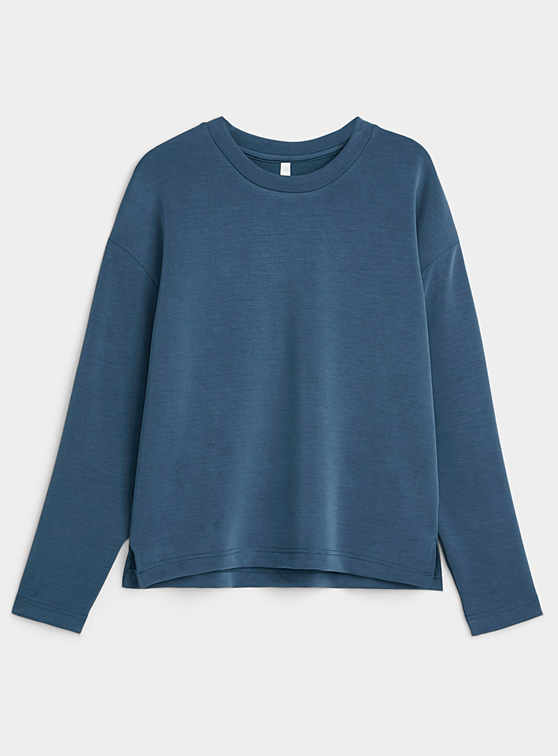 Miiyu Marine Blue Silky modal tee for women