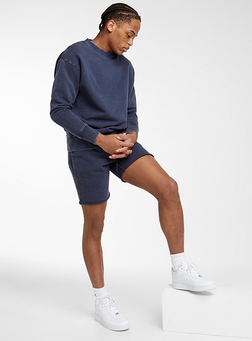 Djab Marine Blue Faded French terry pull-on short for men