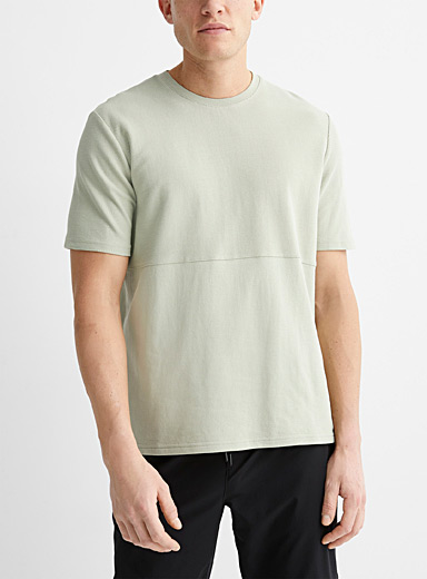 Reverse-block textured T-shirt