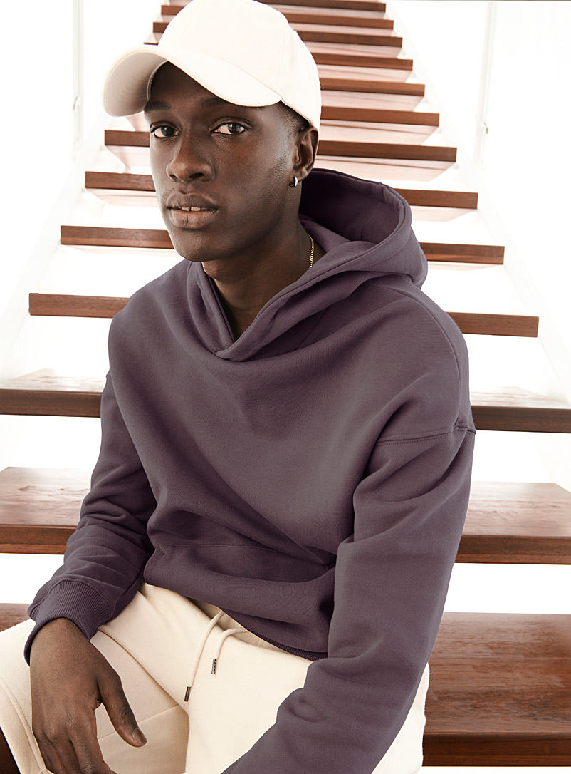 Le 31 Mauve Modern hoodie for men