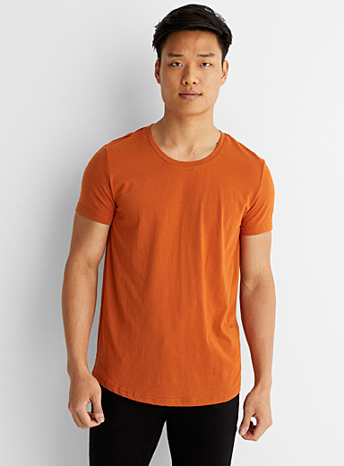 Recycled polyester and organic cotton slim-fit T-shirt