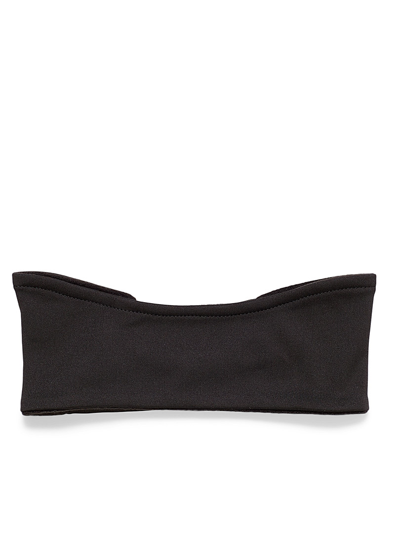 I.FIV5 Black Recycled-polyester headband for women
