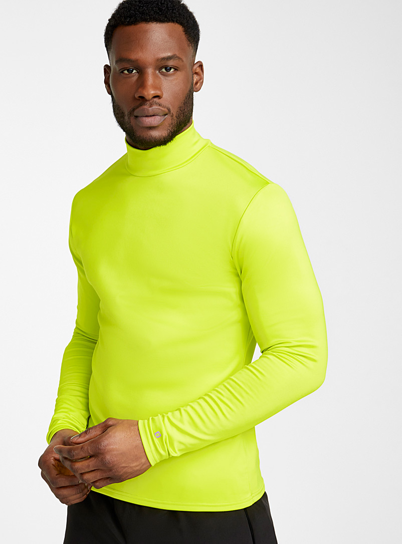 I.FIV5 Lime Green Soft recycled polyester-lined high neck for men