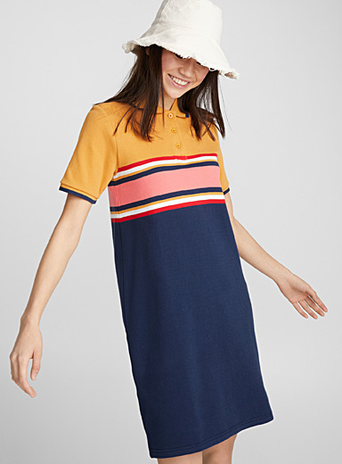 Loose polo dress
