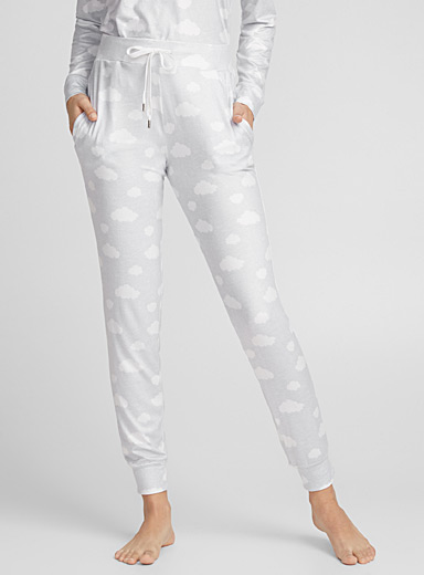 White cloud joggers