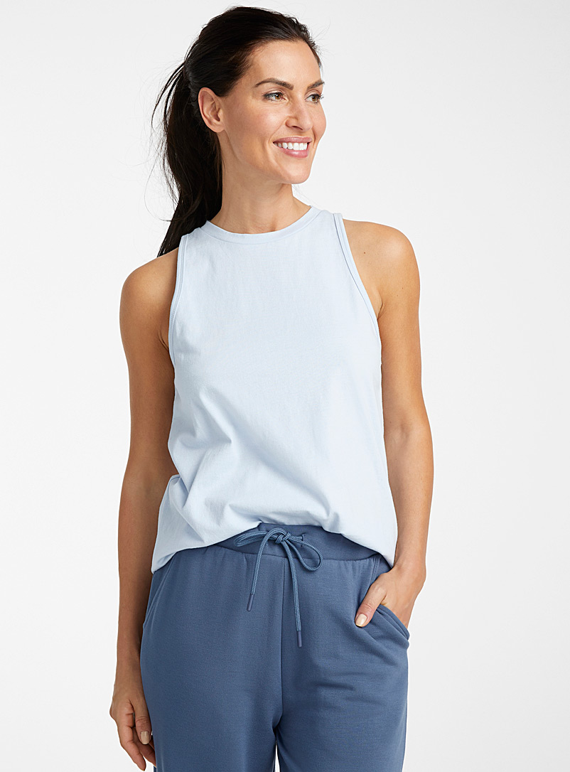 Miiyu Baby Blue Organic cotton minimalist crew-neck cami for women