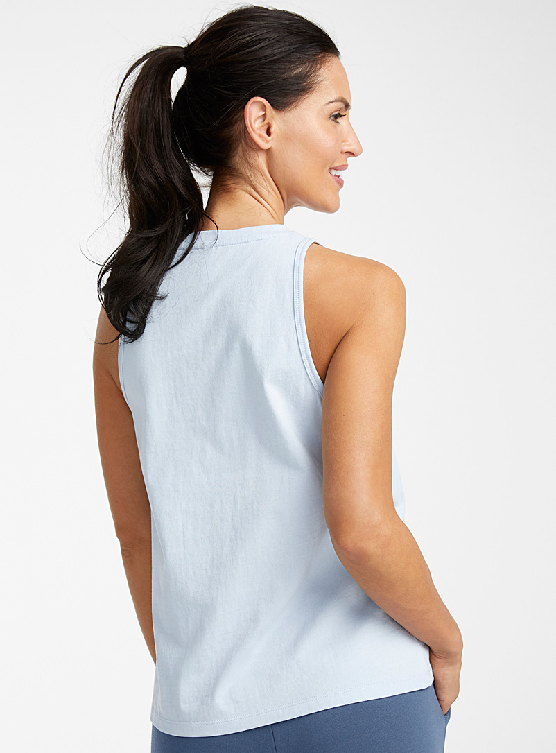 Organic cotton minimalist crew-neck cami - Sleepwear & Leisurewear - Baby Blue
