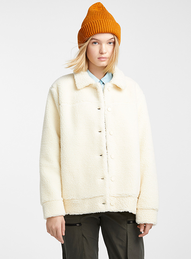Sherpa trucker jacket - Jackets - Ivory White
