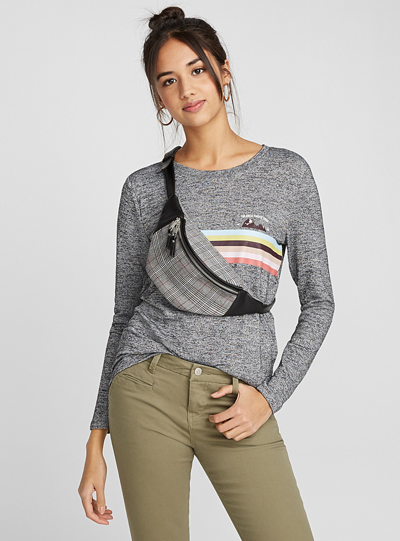 Accent print tee - Long Sleeves - Oxford