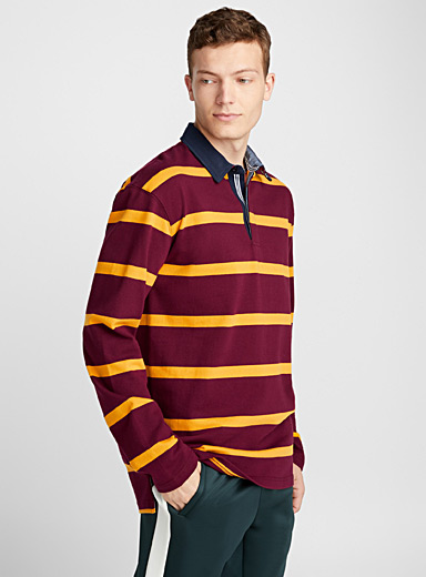 Preppy stripe polo
