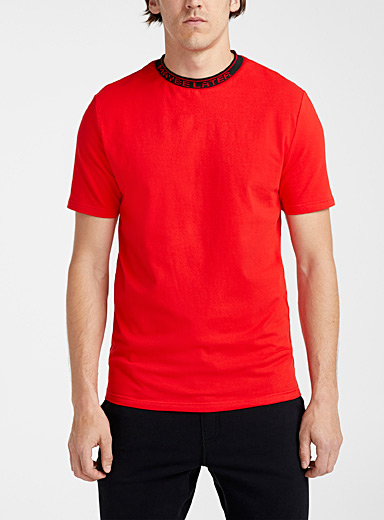 Le 31 Red Message collar T-shirt for men