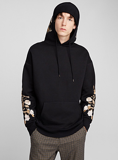 Embroidered roses hoodie