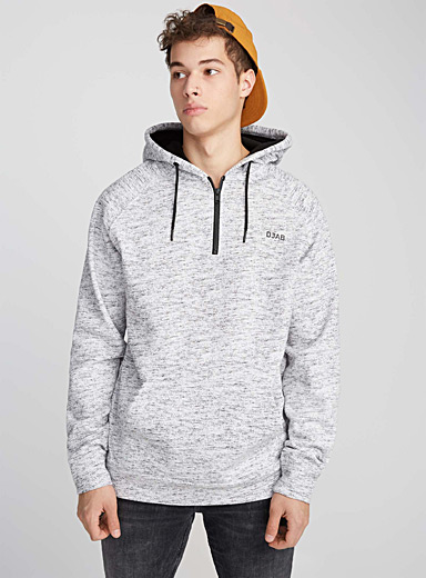 Le sweat demi-zip chiné