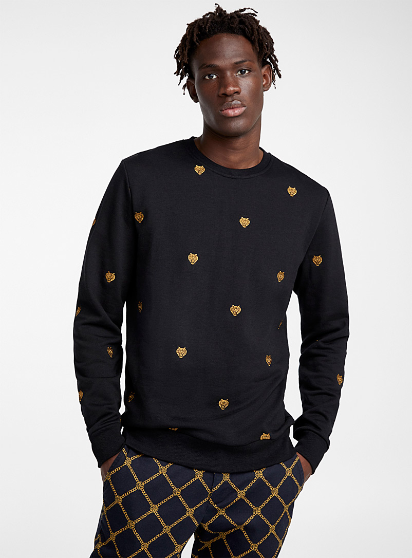 Gold tiger sweatshirt - Sweatshirts & Hoodies - Black