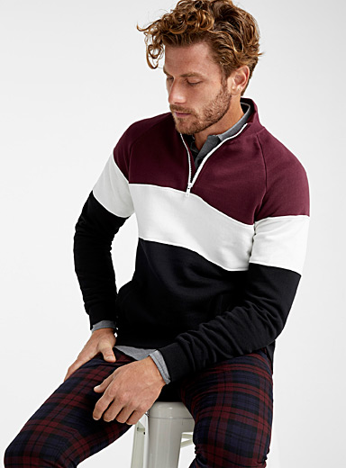 Block half-zip sweatshirt