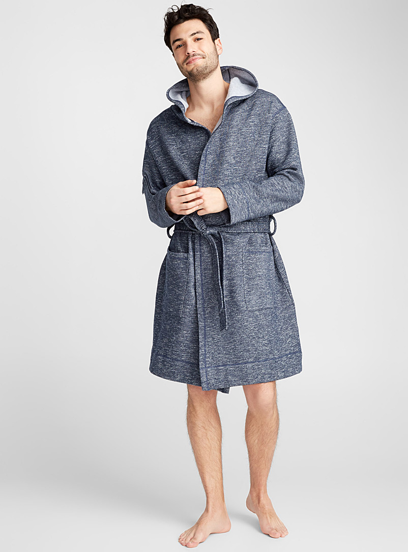 Sweatshirt robe - Bathrobes - Marine Blue