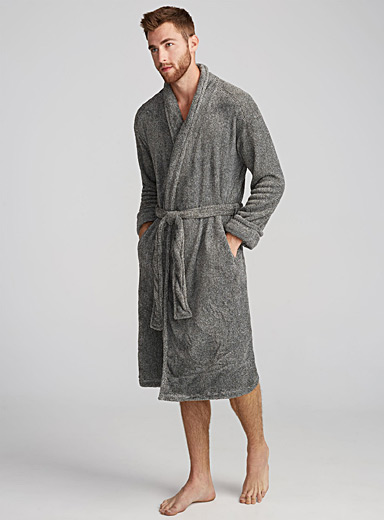 Heather fleece robe