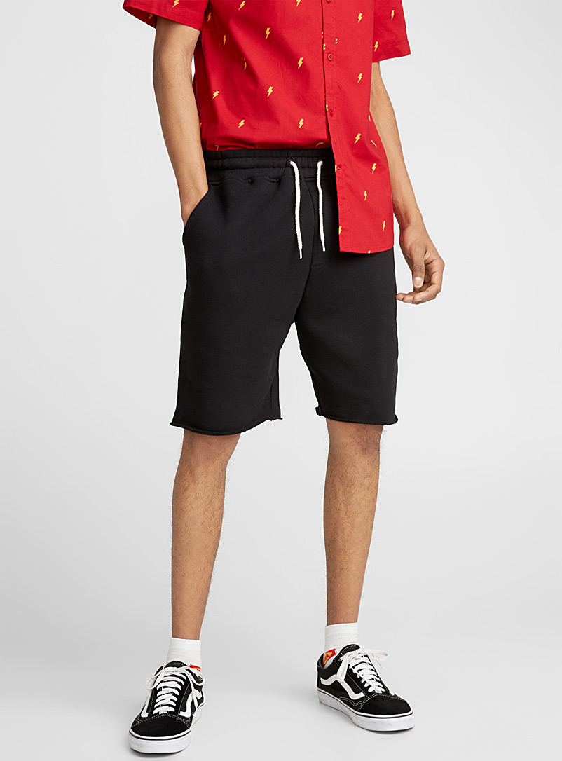 Colour Bermuda sweat short - Bermudas - Black