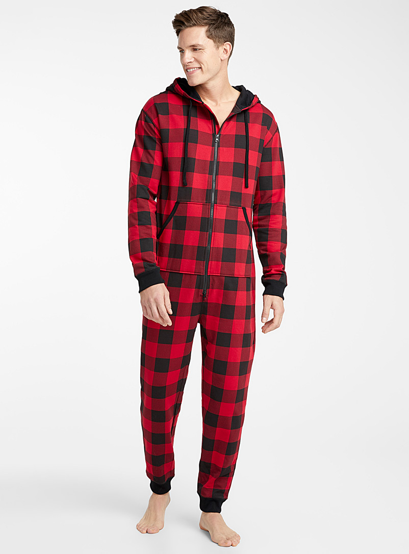 Wool sock lounge onesie - Sleepwear & Leisurewear - Red