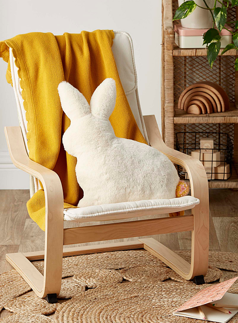 Simons Maison Ivory White Easter rabbit cushion  30 x 40 cm