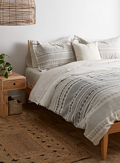 Nomad-stripe duvet cover set