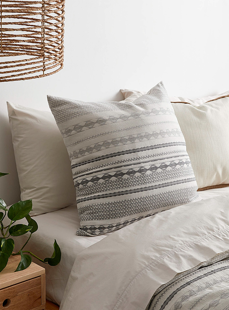 Nomad-stripe cushion  60 x 60 cm - Printed - Grey