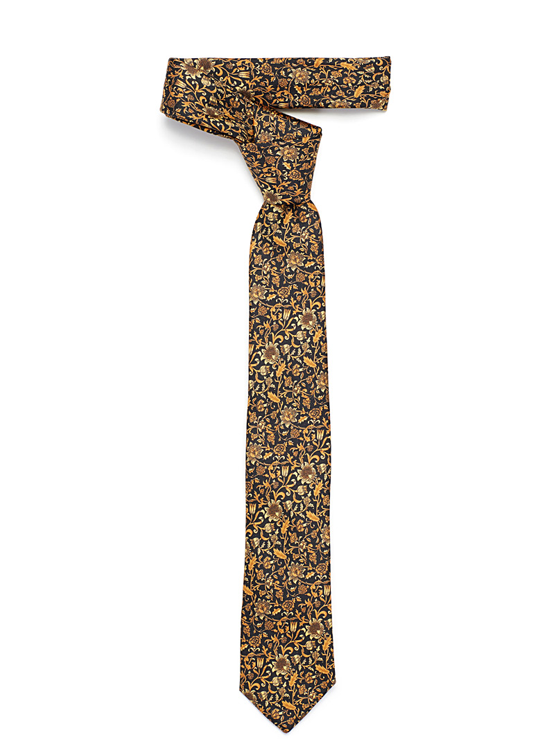 Amber garden tie - Regular Ties - Golden Yellow