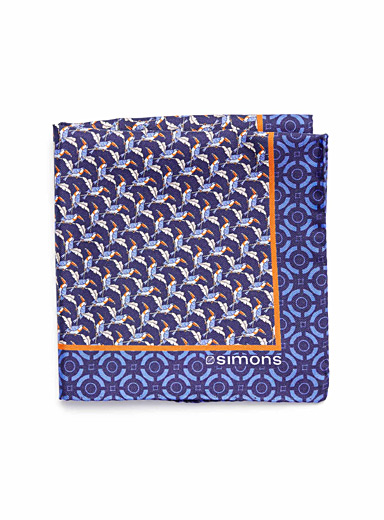 Perched bird pocket square <br>