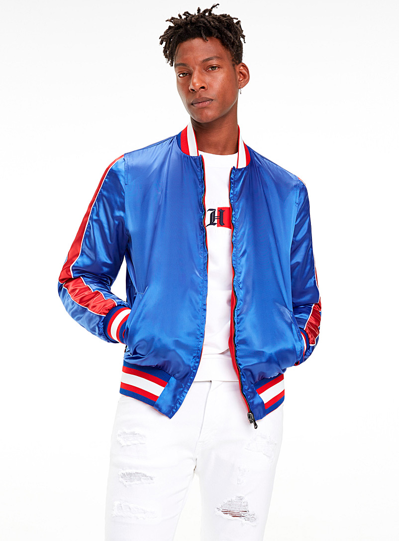 Reversible satin bomber jacket - Jackets & Vests - Blue