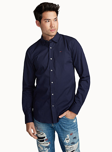 Hilfiger flag solid colour shirt  Slim fit