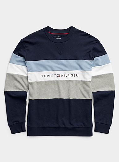 Tricolour block lounge sweatshirt