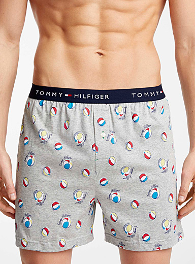 Tommy Hilfiger Charcoal Beach ball loose boxer for men