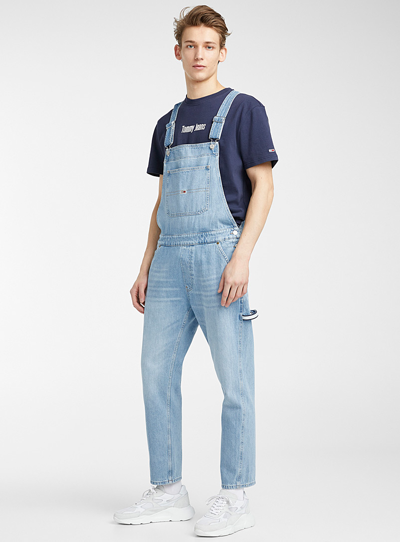 Tommy Hilfiger Baby Blue Faded blue denim overalls for men