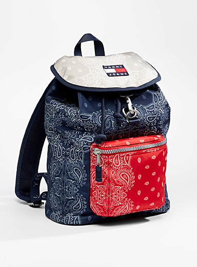 Tricolour bandana backpack