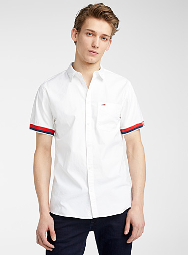 Tommy Hilfiger White Sporty oxford shirt  Modern fit for men