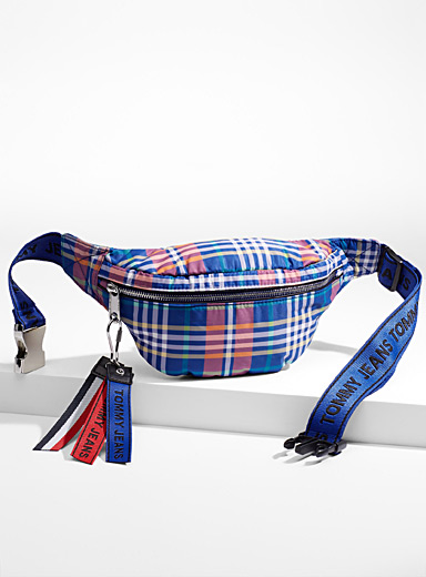 Colourful check belt bag