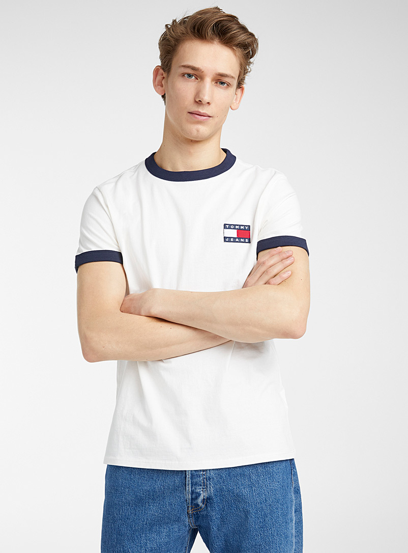 Tommy Hilfiger White Flag logo retro T-shirt for men