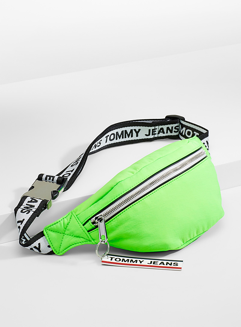 Tommy Hilfiger Lime Green Neon belt bag for men