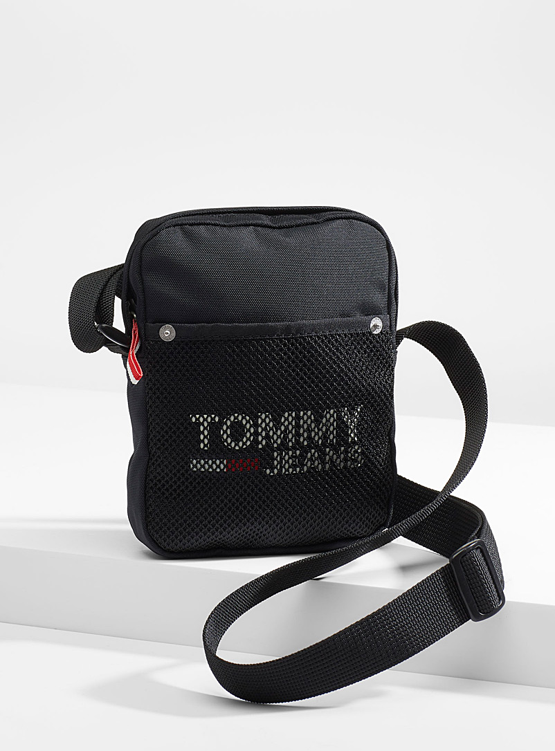 Tommy Hilfiger Black Monochrome shoulder bag for men