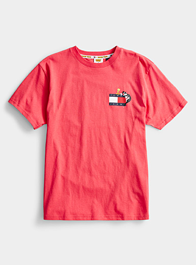 Tommy Hilfiger Pink Looney Tunes logo T-shirt for men