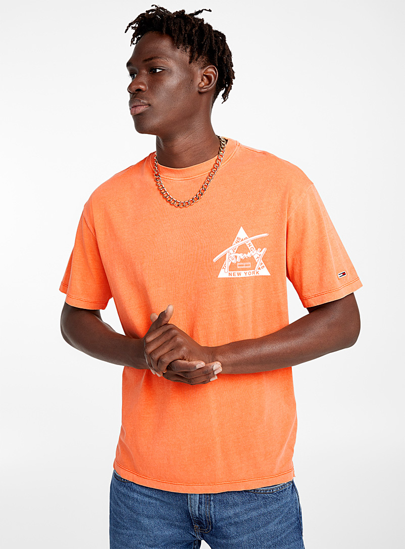 Faded orange logo T-shirt - Short sleeves & 3/4 sleeves