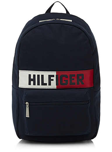Coated logo backpack