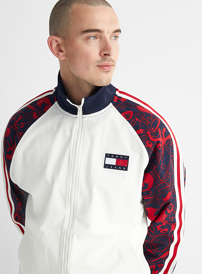 Tommy Jeans White New Legacy track jacket for men
