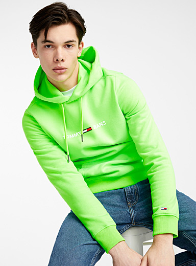 Tommy Hilfiger Kelly Green Signature neon hoodie for men