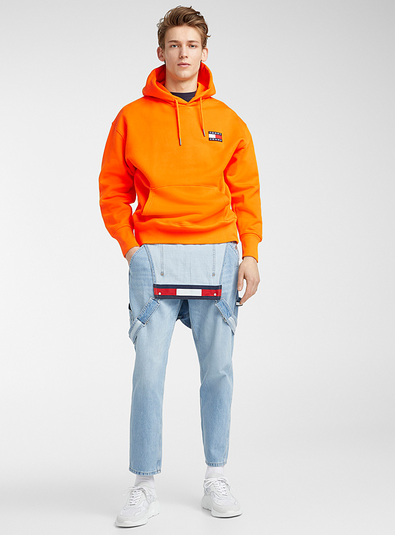 Tommy Hilfiger Orange Logo emblem hoodie for men