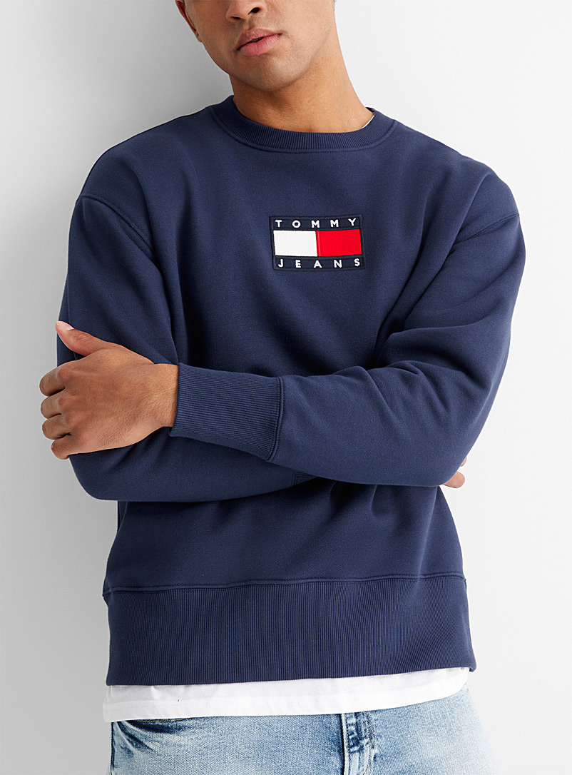 Tommy Hilfiger Dark Blue Original flag logo sweatshirt for men