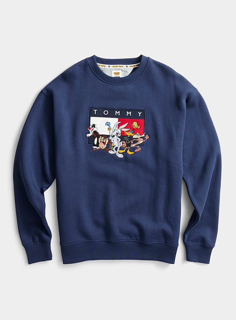 Tommy Hilfiger Dark Blue Looney Tunes logo sweatshirt for men