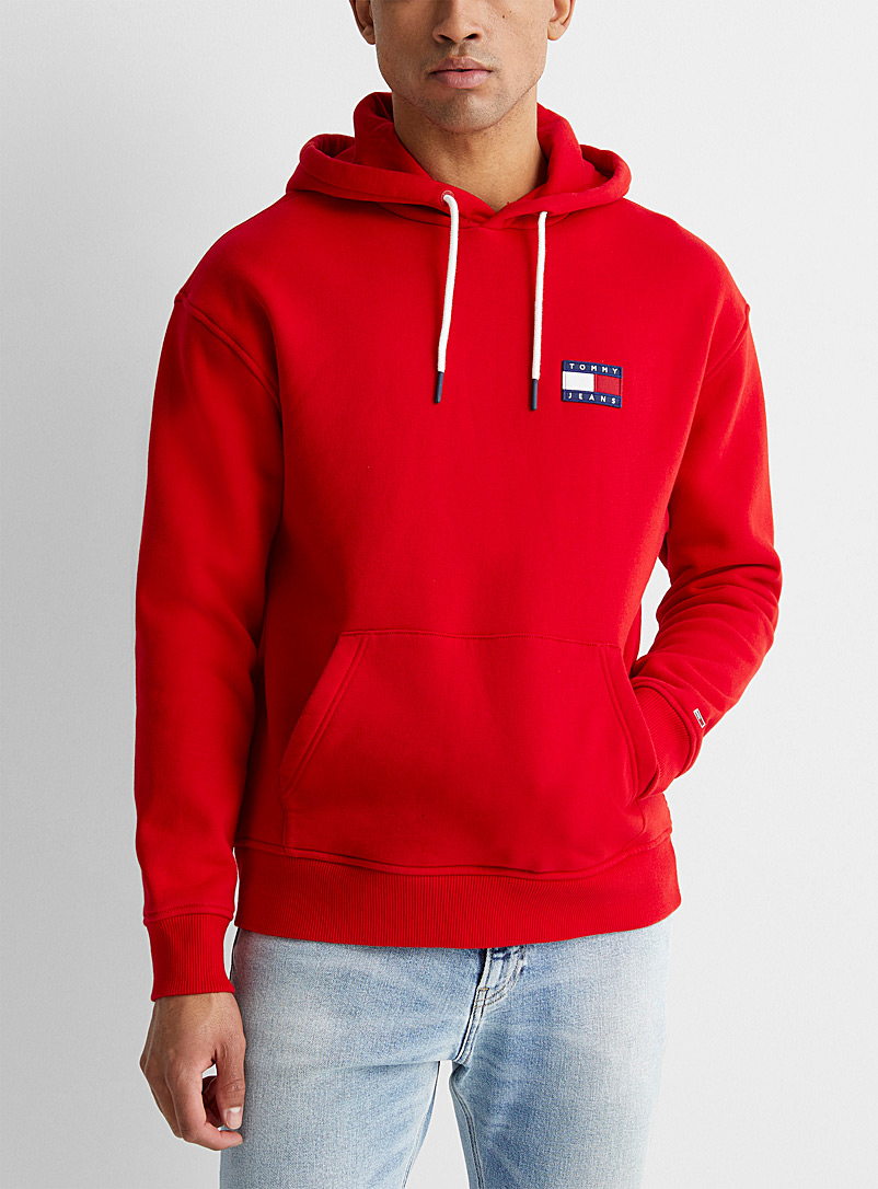 Tommy Hilfiger Red Flag logo patch hoodie for men