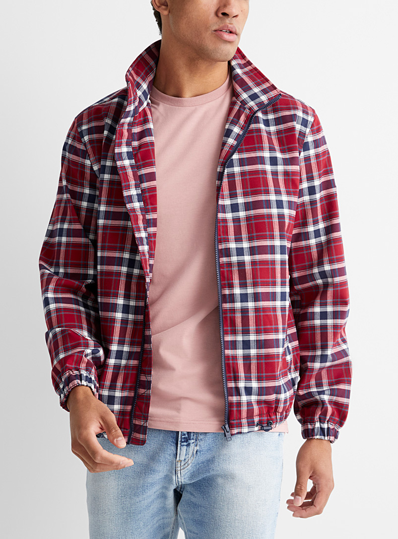 Tricolour check jacket